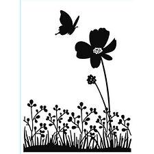 Butterfly On Flower Darice Embossing Folder for Cardmaking, Scrapbooking, etc