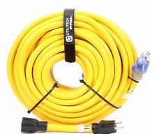 Utilitech Premium 100 ft. 3-plug 20-Amp 110-Volt 10-Gauge Outdoor Extension Cord