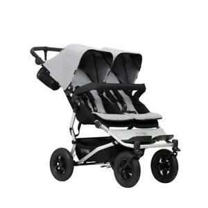 Mountain Buggy Duet V3 Silver Double Pushchair