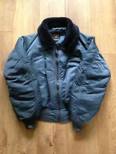 Vintage Alpha Industries B-15C veste de vol USAF Bleu Air Force Fourrure Homme Large