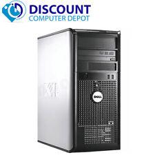 Fast Dell Optiplex Windows 10 Desktop Computer Tower Core 2 Duo 4Gb 250Gb Wifi