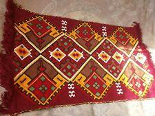 Antique Vintage Handmade Scenic Spring Tapestry / Gobelin mat scatter rug - № 1
