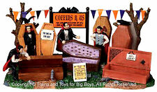 Lemax 03821 COFFINS R US Spooky Town Table Accent Retired Halloween Decor O G I