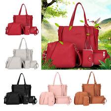 Women Tote Handbags Large Leather Ladies Crossbody Shoulder Bag Set Purse Card
