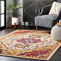 nuLOOM Traditional Country & Floral Bohemian Hand Tufted Arline Red Area Rug
