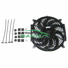 "9"" 9 INCH 12V PULL/PUSH RADIATOR FOR Electirc Thermo Curved Blade FAN + MOUNTING"