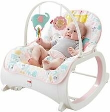 Infant-to-Toddler Rocker Pink Baby Seat Swing Chair Bouncer For Newborn