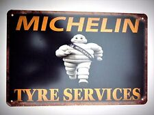 MICHELIN DESIGN 5  METAL TIN SIGNS vintage cafe pub bar garage decor shabby chic