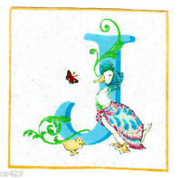 """3.5"""" Beatrix potter letter j square nursery wall safe fabric decal cut"""