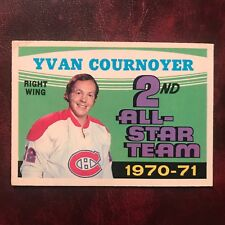 1971-72 O-Pee-Chee OPC Set YVAN COURNOYER ALL-STAR #260 MONTREAL CANADIENS VG-EX