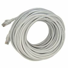 100FT CAT5e Cable Ethernet Lan Network CAT5 RJ45 Patch Cord Internet Gray NEW