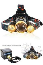 6000 Lumen LED Headlamp Waterproof Flashlight Outdoor Post Lights Hard Hat Light
