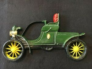 "Antique Car Wall Plaques Cast Metal 11"" Long"