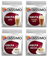Tassimo 4 Packet Costa Coffee Mix Flavour (Total 64 T-Discs / 40 Servings)