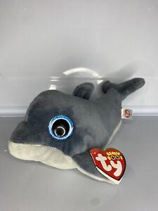 "Echo Dolphin Ty Beanie Boos 6""/15cm Tagged"