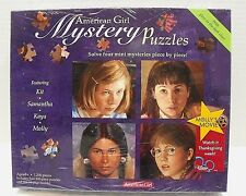 American Girl Mystery Puzzles Kit Samantha Kaya Molly Glow in Dark Clues Booklet