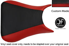 BLACK & DARK RED VINYL CUSTOM 03-05 FOR YAMAHA 600 YZF R6 FRONT SEAT COVER ONLY