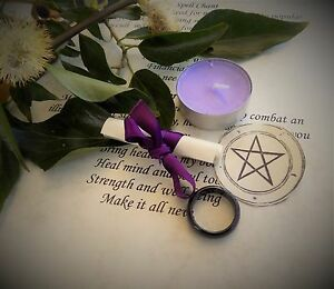 Agate Ring Lose Weight Wiccan Pagan Witchcraft Spell Kit