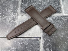 20mm TOP GUN Brown Soft Calf LEATHER STRAP Watch Band Brown Stitch IWC PILOT 20