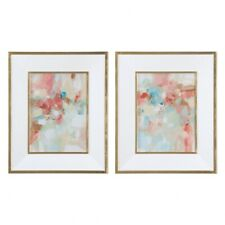 New listing Uttermost 41557 A Touch Of Blush And Rosewood Fences - 33.63 inch Abstract Art