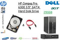 "250GB HP Compaq Pro 6300 3.5"" SATA Hard Disk Drive (HDD) Replacement / Upgrade"