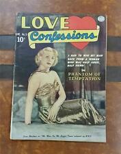 LOVE CONFESSIONS ROMANCE COMIC No.5 * GOLDEN AGE JUNE 1950 10c * TEMPTATION