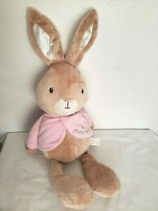 Peter Rabbit Flopsy Bunny Plush Stuffed Animal Tan Pink Jacket Beatrix Potter