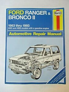Repair Manuals Literature For 1992 Ford Ranger For Sale Ebay