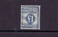 RHODESIA & NYASALAND 1956 £1 BLUE REVENUE USED