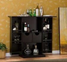 Liquor Storage Cabinet Mini Bar Home Buffet Bottle Wine Dining Wooden Furniture