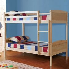 3FT Pine Wood Single Bunk Bed Frame Splits 2 Beds For Adult Kids Children