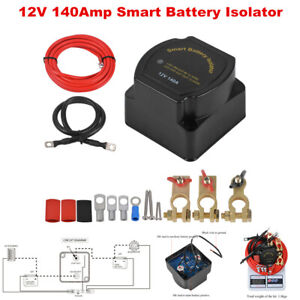 12V Car 140 Amp Smart Dual Battery Charging Isolator Voltage Sensitive Relay Kit