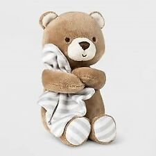 NWT Carters Just One You Brown Plush Teddy Bear Baby Rattle Security Blanket