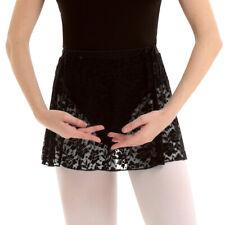Black High Waist Lace Skirt Elastic Mini Ballet Practice Stage Performance Dress