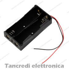 Contenitore Porta Batteria per 2x due 18650 Li-ion Portapila Battery Holder