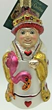Old World Christmas Glass Ornament Queen Hearts 10125 Retired Alice Wonderland