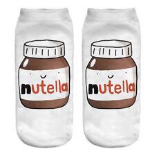 SOCK NUTELLA Cute Pair 3D Printed Men Women Fashion Designer Low Cut Ankle Socks
