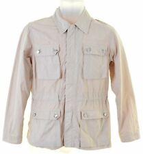 ARMANI JUNIOR Boys Military Jacket 10-11 Years Beige Cotton  FV19