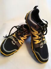 Vivo Barefoot Mens Shoes Trail Running Hiking Mesh Black Yellow US 8.5M EU 41
