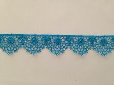 MOROCCAN LACE TRIM TURQUOISE RIBBON TAPE DRESSMAKING CRAFT SCALLOPED FLORAL