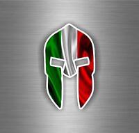 Sticker adesivo molon labe bandiera italia italiana spartano spartan helmet