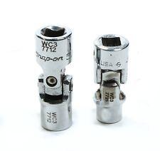 "2PC Snap-on 1/4"" Drive Universal Shallow Spline Socket TESU8 1/4"", TESU10 5/16"""