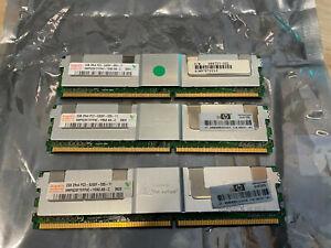 3x 2GB Hynix DDR2 PC2-5300F ECC FB-DIMM HMP525F7FFP4C-Y5N3 AB-C P/N: 398707-051
