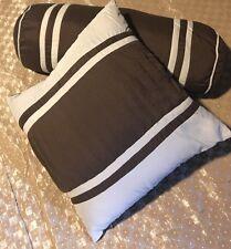 """2 Cotton Throw Pillows Cushion Home Decorative 19""""x6"""", 13""""x13""""  Brown & Tan"""