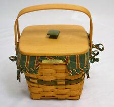Longaberger Christmas Collection 1995 Edition Cranberry Basket Combo Liner Lid
