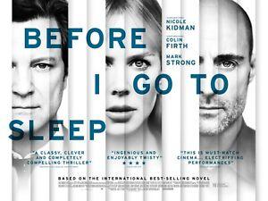 Before I Go to Sleep, Original UK Quad Sheet Movie Poster