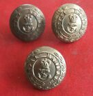 3 ROYAL MARINES BRASS BUTTONS