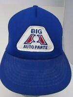 Big A Auto Parts Trucker Hat Snapback Blue Patch Cap K-Products Mesh A8