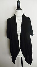 GUESS~BLACK SLUB KNIT LACE OPEN BACK CARDIGAN SWEATER JACKET~M~EUC  RR