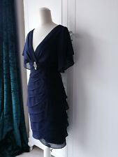 SCARLETT NITE Navy Blue Cocktail Dress Fitted Party Wedding BNWT Size 10 #149